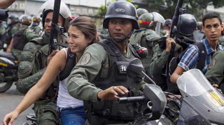 Detención de manifestante