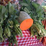 Puesto de verduras en Santo Tomás