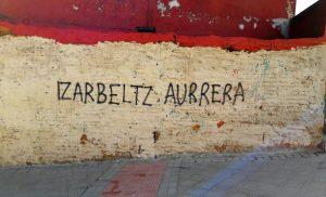 Pintada en Bolueta contra el desalojo de Izar Beltz