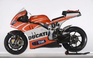 Handout photo of the Ducati Desmosedici GP13 MotoGP model that will compete in the MotoGP 2013 season