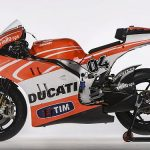 The Ducati Desmosedici GP13 MotoGP model that will compete in the MotoGP 2013 season is seen in this picture provided by Wroom Photoservice received by Reuters January 16, 2013. REUTERS/Wroom Photoservice/Handout hat will compete in the MotoGP 2013 season