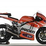 Handout photo of the Ducati Desmosedici GP13 MotoGP model that will compete in the MotoGP 2013 season