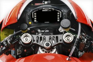 Handout photo showing the dashboard of the Ducati Desmosedici GP13 MotoGP model that will compete in the MotoGP 2013 season
