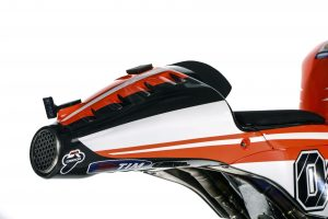 Handout photo showing the tail of the Ducati Desmosedici GP13 MotoGP model that will compete in the MotoGP 2013 season